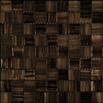 Nova Arte - 1X1 Taupe Gold - Deco MIx of Gloss and Frosted Glass Tile Mosaic