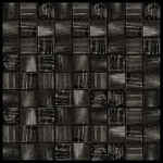 Nova Arte - 1X1 Grey - Deco MIx of Gloss and Frosted Glass Tile Mosaic