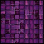 Nova Arte - 1X1 Lavender Magenta - Deco MIx of Gloss and Frosted Glass Tile Mosaic