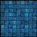 Nova Arte - 1X1 Blue - Deco MIx of Gloss and Frosted Glass Tile Mosaic