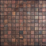 Copper Mosaic Tile - Nova Futura - 1 X 1 Patina Copper - Metal Mosaic