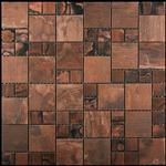 Copper Mosaic Tile - Nova Futura Patina Copper Mixed Size - Metal Mosaic