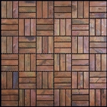 Copper Mosaic Tile - Nova Futura Patina Copper Weave - Metal Mosaic