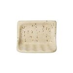 American Olean - BA725 Soap Dish - Resin Faux Stone Bath Accessory - Light Travertine Color
