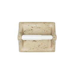 American Olean - BA777 Toilet Tissue Paper Holder - Resin Faux Stone Bath Accessory - Light Travertine Color