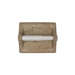 American Olean - BA777 Toilet Paper Tissue Holder - Resin Faux Stone Bath Accessory – Noce Travertine Color