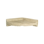 American Olean - BA780 Large Corner Caddy Shampoo Shelf - Resin Faux Stone Bath Accessory – Light Travertine Color