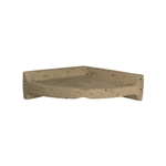 American Olean - BA780 Large Corner Caddy Shelf - Resin Faux Stone Bath Accessory – Noce Travertine Color