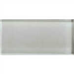 American Olean Color Appeal Glass - C102 Silver Cloud - 3X6 Brick Subway Glass Tile - Glossy
