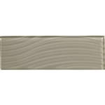 American Olean Color Appeal Entourage Abstracts Glass - C102 Silver Cloud - 4X12 Wavy Subway Glass Tile Plank - Glossy