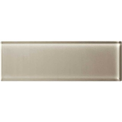American Olean Color Appeal Glass - C103 Oxford Tan - 4X12 Subway Glass Tile Plank - Glossy