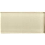 American Olean Color Appeal Glass - C104 Cloud Cream - 3X6 Brick Subway Glass Tile - Glossy
