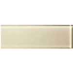 American Olean Color Appeal Glass - C104 Cloud Cream - 4X12 Subway Glass Tile Plank - Glossy