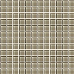 American Olean Color Appeal Glass - C105 Plaza Taupe - 1X1 Glass Tile Mosaic - Glossy
