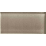 American Olean Color Appeal Glass - C105 Plaza Taupe - 3X6 Brick Subway Glass Tile - Glossy