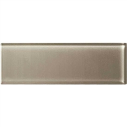 American Olean Color Appeal Glass - C105 Plaza Taupe - 4X12 Subway Glass Tile Plank - Glossy