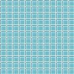 American Olean Color Appeal Glass - C108 Fountain Blue - 1X1 Glass Tile Mosaic - Glossy