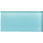 American Olean Color Appeal Glass - C108 Fountain Blue - 3X6 Brick Subway Glass Tile - Glossy