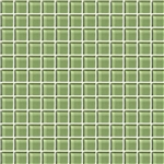 American Olean Color Appeal Glass - C111 Grasshopper - 1X1 Glass Tile Mosaic - Glossy