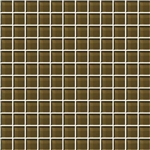 American Olean Color Appeal Glass - C113 Sable - 1X1 Glass Tile Mosaic - Glossy