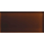 American Olean Color Appeal Glass - C114 Copper Brown - 3X6 Brick Subway Glass Tile - Glossy