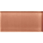 American Olean Color Appeal Glass - C115 Brandied Melon - 3X6 Brick Subway Glass Tile - Glossy