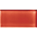 American Olean Color Appeal Glass - C116 Auburn - 3X6 Brick Subway Glass Tile - Glossy