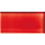 American Olean Color Appeal Glass - C117 Cherry - 3X6 Brick Subway Glass Tile - Glossy