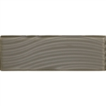 American Olean Color Appeal Entourage Abstracts Glass - C119 Mink - 4X12 Wavy Subway Glass Tile Plank - Glossy