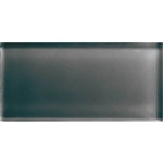American Olean Color Appeal Glass - C121 Charcoal Gray - 3X6 Brick Subway Glass Tile - Glossy