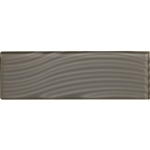 American Olean Color Appeal Entourage Abstracts Glass - C121 Charcoal Gray - 4X12 Wavy Subway Glass Tile Plank - Glossy