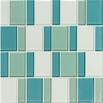 "American Olean Color Appeal Renewal Entourage - 3"" Block - C128 Sea Pearl Blend - Glass Mosaic Tile"