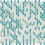 American Olean Color Appeal Renewal Entourage - Chain Link - C128 Sea Pearl Blend - Micro Brick Glass Mosaic Tile