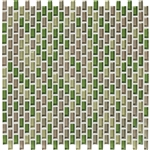 American Olean Color Appeal Renewal Entourage - Chain Link - C129 Willow Brook Blend - Micro Brick Glass Mosaic Tile