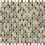 American Olean Color Appeal Renewal Entourage - Chain Link - C132 Pecan Grove Blend - Micro Brick Glass Mosaic Tile
