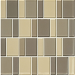 "American Olean Color Appeal Renewal Entourage - 3"" Block - C133 Sand Storm Blend - Glass Mosaic Tile"