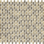 American Olean Color Appeal Renewal Entourage - Chain Link - C133 Sand Storm Blend - Micro Brick Glass Mosaic Tile