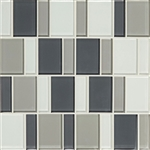 "American Olean Color Appeal Renewal Entourage - 3"" Block - C134 Silver Spring Blend - Glass Mosaic Tile"