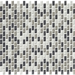 American Olean Color Appeal Renewal Entourage - Chain Link - C134 Silver Spring Blend - Micro Brick Glass Mosaic Tile