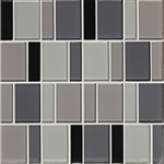 "American Olean Color Appeal Renewal Entourage - 3"" Block - C135 Midnight Sky Blend - Glass Mosaic Tile"
