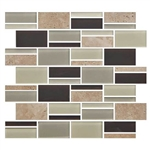 "American Olean Color Appeal Blends - C138 Canyon Trail Blend - 3"" X Random Interlocking Glass & Stone Mosaic Tile - Sample"