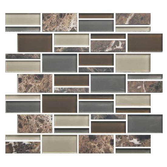 American Olean Color Appeal Blends C Tortoise Shell Blend - American olean 2x2 mosaic tile