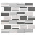 "American Olean Color Appeal Blends - C140 Mountain Morning Blend - 3"" X Random Interlocking Glass & Stone Mosaic Tile"