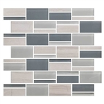 "American Olean Color Appeal Blends - C141 Sea Cliff Blend - 3"" X Random Interlocking Glass & Stone Mosaic Tile"
