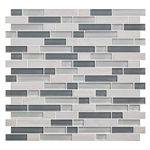 American Olean Color Appeal Blends - C141 Sea Cliff Blend - 5/8 X Random Linear Interlocking Glass & Stone Mosaic Tile
