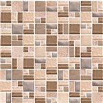 American Olean Entourage Fortify - FF02 Crater - Block Random Glass & Stone Mosaic Tile