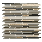 American Olean Entourage Generations Glass - GN05 Era - 3/8 X Random Linear Mini Brick Stick Subway Glass & Stone Mosaic