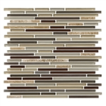 American Olean Entourage Generations Glass - GN07 Passages - 3/8 X Random Linear Mini Brick Stick Subway Glass & Stone Mosaic