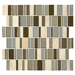 "American Olean Entourage Jubilance - JB01 Bliss Blend - 2"" X Random Interlocking Glass & Stone Mosaic Tile"