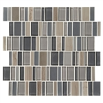 "American Olean Entourage Jubilance - JB02 Joy Blend - 2"" X Random Interlocking Glass & Stone Mosaic Tile"